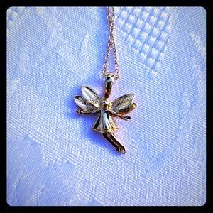 "Vintage 18"" Goldtone ""Guardian Fairy"" Necklace"